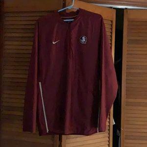 Nike Garnet FSU 2018 Sideline  Half-Zip Jacket